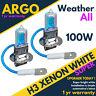 H3 12 Volts 12v 100 Watts 100w Ampoule Phare Halogène 483 2 Ampoules