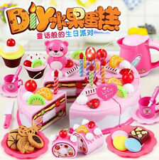 US Stock 37x Fruit Birthday With light Cake Cookie Cupcake Pretend Play kids
