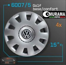 4 Original MURAMA 6007/5 Radkappen für 15 Zoll Felgen VW POLO GOLF BASIC CONFORT