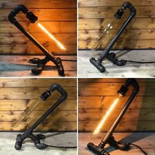 Industrial Table / Desk Lamp, Retro, Steampunk, Art, Edison LED, Bedside Light