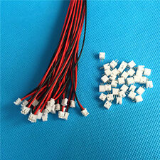 20 Sets X Mini Mirco Jst ZH 1.5mm 2-pin JST Connector Plug With Wire Cables