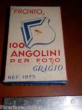Vecchia scatola quasi vuota PRONTO 100 ANGOLINI PER FOTO GRIGIO ref 1975 d epoca