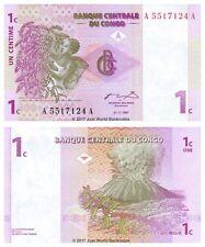 Congo 1 décime 1997 P-80 première préfixe billets UNC