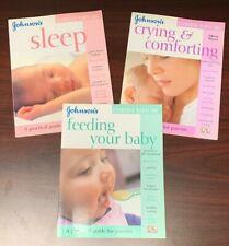 Feeding Your Baby /Sleep /Crying (Johnson's Everyday Babycare) Books set of 3