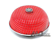 """3"""" 76mm Flange Round Mushroom Cone Dry Cold Air / Short Ram Intake Filter RED"""