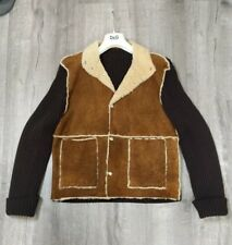 Beautiful Vintage Dolce & Gabbana Suede & Lamb Men Shearling Jacket Sz.50 D&G