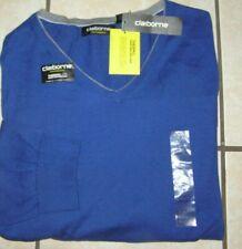 NWT $55 Mens Big & Tall Claiborne V-Neck Performance Sweater Royal Blue Sz 4XL