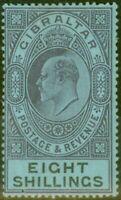 Gibraltar 1903 8s Dull Purple & Black-Blue SG54 Fine & Fresh Lightly Mtd Mint...