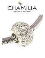 Genuine CHAMILIA 925 sterling silver & clear Swarovski  KALEIDOSCOPE charm bead