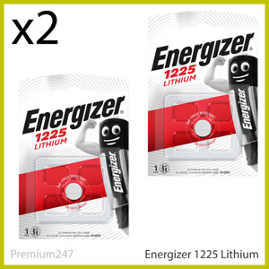 2 x Energizer 1225 CR1225 3V Lithium Coin Cell Battery DL1225 KCR1225 BR1225 NEW
