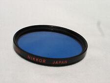 One NIKON NIKKOR 52mm B12 BLUE filter only    #00513