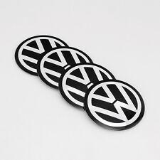 4pcs 56mm Car Wheel Center Hub Caps Curved Sticker Emblem Badge VW 1