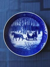 "Royal Copenhagen 1984 Christmas Plate - ""Jingle Bells�"