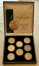 More details for the crown collection 1951-1981 eight x 5 shillings crown coa case sp61