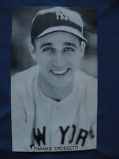 J.D. McCarthy postcard Frankie Croestti N.Y. Yankees post cards baseball