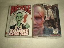 AMC Walking Dead & (Bicycle) Zombie Playing Cards 2 Decks/Packs (Sealed)