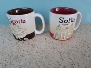 Starbucks Set of Two Demitasse 3 oz Espresso Cups - Bulgaria and Sofia UNUSED