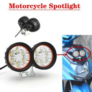 Motorcycle Spotlight LED Front External Double Headlight Waterproof Fog Light