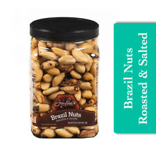 Jaybees Roasted Salted Brazil Nuts High in Protein Healthy Delicious Snack 32oz