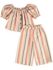New Mini Mango Toddler Girls Linen Rich Stripe 2 Piece Set By Best&Less