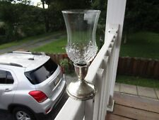 VINTAGE DUCHIN  WEIGHTED  STERLING SILVER CANDLE HOLDER WITH GLASS TOPPER!!