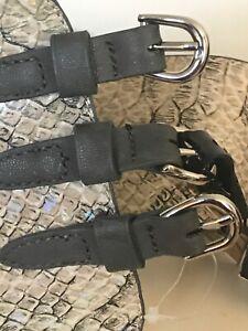 Fiorelli Snake Skin Pattern Whistle Indescent Triple Buckle Waist Belt Size M
