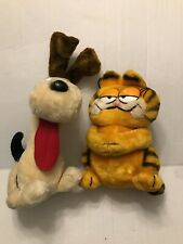 Vtg Garfield And Odie the dog Stuffed animals Garfield & Oldie Plushie