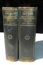 Das Weib in der Natur-und Völkerkunde 1913 Ploss Bartels 2 vols Woman in Nature