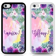 Personalised iPhone case, succulent flower Samsung cover, personalised gift idea