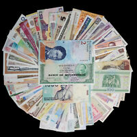 Lot Set 100 PCS Different MIX World Banknotes From 50 Differe Countries, UNC