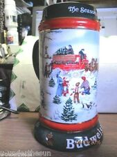 Vintage 1991 Collector'S Series Anheuser Busch Clydesdales 8-Horse Hitch Stein
