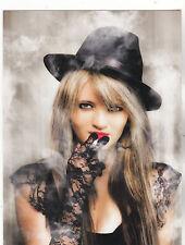 """The Gangster Pretty Girl w/Black Hat"" & Smoking-  'Postcard' (B-119)"