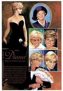 St. Vincent 1997 - SC# 2497 - Princess Diana, Royalty - Sheet of 4 Stamps - MNH