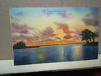 FLORIDA SUNSET Tichnor Bros. Boston Mass 2 $.02  Jefferson stamps PALATKA 1956