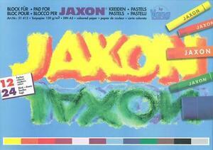 Jaxon Tonpapier Tonzeichenpapier Block für Pastellkreide DIN A3 120g/m² 24 Blatt