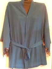 2X EVERGREEN GREEN Silk Robe Fredericks of Hollywood Black Label Collection Plus