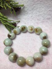 14mm- 100% Burma Natural Grade A Jadeite Bead Bracelet, Undyed, Untreated.