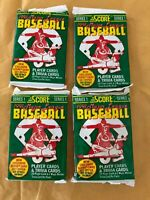 ( 4 ) Unopened Pack of 1991 Score Major League Baseball Cards series 1.   NEW