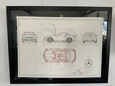 Mercedes SLK AMG 2005 W171 Konstruktionszeichnung/ Blueprint.