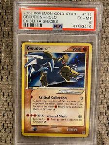2005 Pokemon EX Delta Species Groudon Gold Star 111/113 PSA 6 Mint Rare card WOW