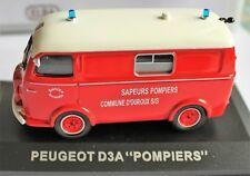 PEUGEOT D3A POMPIERS.camionettes d'antan.altaya.