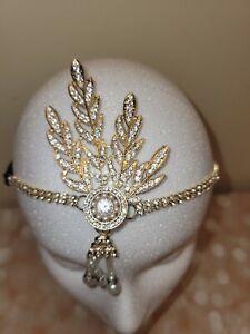 Flapper Head piece Rhinestone Great Gatsby Headband Retro Hair jewelry