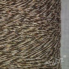 SHETLAND WEAVING WOOL - 4 PLY - BROWN TWEED 500g CONE TEN BALLS KNIT FELT MARL