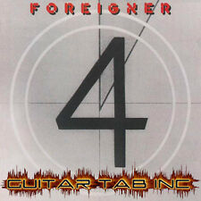 Foreigner Digital Guitar Tab 4 Lessons on Disc four Mick Jones