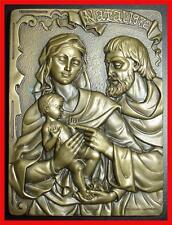 Religious/ Baby Jesus-Mary-Joseph/ Angels/Christmas 1976/Bronze Medal (M.**)