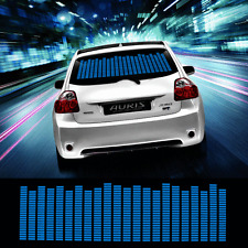 90*25cm Car Sticker Music Rhythm LED Flash Lamp Sound Activated Equalizer_Blue