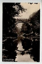 (Lf321-226) Real Photo of The Abbey Bridge, BARNARD CASTLE 1915  Used VG+