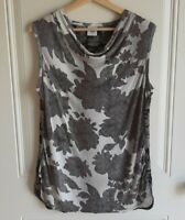 Cabi Womens Sleeveless Cowl Neck Floral Printed Tango Tank Top Blouse Size Small