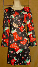 BUTT UGLY CHRISTMAS DRESS - Peppermints Gingerbread Snowflakes sz L *NEW TAGS!
