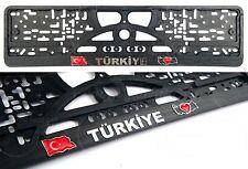 2x TURKEY Türkiye Republic of Turkey TURKIYE LOGO Auto License plate frames 3D